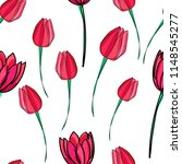 hand drawn tulips  elements on... | Shutterstock .eps vector #1148545277