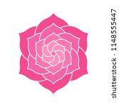elegant geometric lotus or... | Shutterstock .eps vector #1148555447