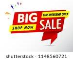 big sale banner red sale label   Shutterstock .eps vector #1148560721