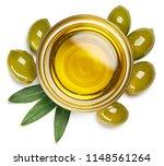 bowl of fresh extra virgin... | Shutterstock . vector #1148561264