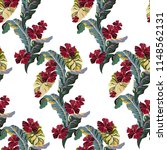 vintage tropical pattern with... | Shutterstock .eps vector #1148562131