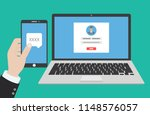 two steps authentication... | Shutterstock .eps vector #1148576057