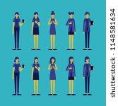 group of women using smartphone | Shutterstock .eps vector #1148581634