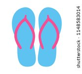 colorful flip flops. beach... | Shutterstock .eps vector #1148583014