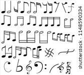 music notes collection | Shutterstock .eps vector #1148590334