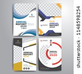 set of annual report cover... | Shutterstock .eps vector #1148598254