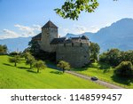 vaduz castle is located at the... | Shutterstock . vector #1148599457