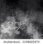 contemporary art. hand made art.... | Shutterstock . vector #1148603474