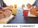 a group of people studying the... | Shutterstock . vector #1148608217