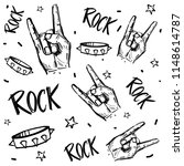 rock and roll  signs. seamless... | Shutterstock .eps vector #1148614787