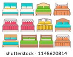 bed. vector. outline furniture... | Shutterstock .eps vector #1148620814