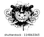vector  illustration halloween... | Shutterstock .eps vector #114863365