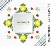 flat lay fresh vegetables on...   Shutterstock .eps vector #1148639744