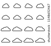 cloud icons 2018 | Shutterstock .eps vector #1148652467