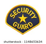 blue and gold security guard...   Shutterstock . vector #1148653634