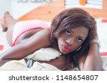 portrait of beautiful ebony... | Shutterstock . vector #1148654807