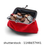 full open change purse with... | Shutterstock . vector #1148657441