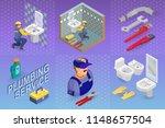 isometric interior repairs... | Shutterstock .eps vector #1148657504