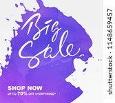 hand writing lettering sale... | Shutterstock .eps vector #1148659457