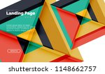 square shape geometric abstract ... | Shutterstock .eps vector #1148662757
