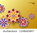 3d colorful arabesque style... | Shutterstock .eps vector #1148665847