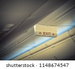 emergency exit sign with red... | Shutterstock . vector #1148674547