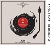 musical poster for your design. ... | Shutterstock .eps vector #1148675771