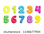 colorful  kid font numbers... | Shutterstock .eps vector #1148677904