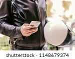close up viewof  man in leather ... | Shutterstock . vector #1148679374