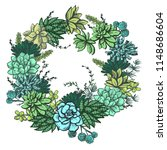 decorative colored wreath with... | Shutterstock .eps vector #1148686604
