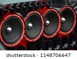 installed powerful audio... | Shutterstock . vector #1148706647