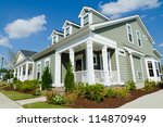 street of residential cottage... | Shutterstock . vector #114870949