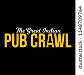 great indian pub crawl | Shutterstock .eps vector #1148709764