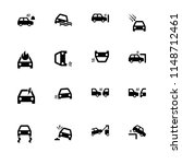 car accidents. set outline icon ... | Shutterstock .eps vector #1148712461