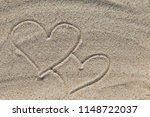 drawing of love heart as symbol ... | Shutterstock . vector #1148722037