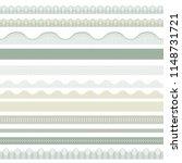 seamless decorative borders for ... | Shutterstock .eps vector #1148731721
