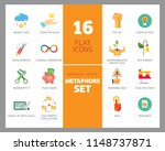 metaphors vector icon set.... | Shutterstock .eps vector #1148737871