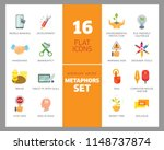 metaphors vector icon set.... | Shutterstock .eps vector #1148737874
