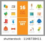clothes icon set. sweater ... | Shutterstock .eps vector #1148738411