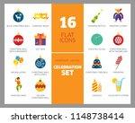 celebration icon set. balloons  ... | Shutterstock .eps vector #1148738414