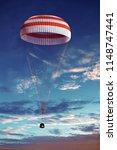 Space Capsule On Parachute...