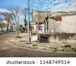 urban day scene at neglected...   Shutterstock . vector #1148749514