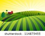 farm | Shutterstock . vector #114875455