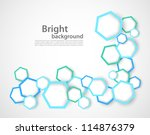 background with hexagons | Shutterstock .eps vector #114876379