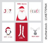 collection of christmas card... | Shutterstock .eps vector #1148770964