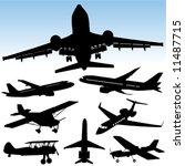 airplane vector | Shutterstock .eps vector #11487715