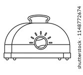 classic toaster icon. outline... | Shutterstock .eps vector #1148772674