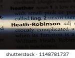 Small photo of heath robinson word in a dictionary. heath robinson concept.