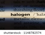 halogen word in a dictionary....   Shutterstock . vector #1148782574
