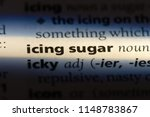 icing sugar word in a... | Shutterstock . vector #1148783867